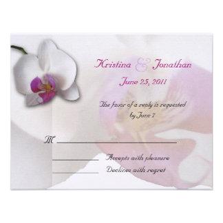 Pink Orchid RSVP 5 5x4 25 Invitation