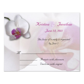 Pink Orchid RSVP 5.5x4.25 Invitation