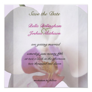 Pink Orchid Save the Date Invitation