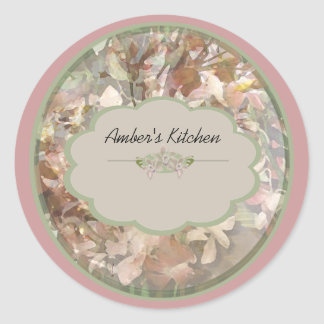 pink orchid spice jar labels