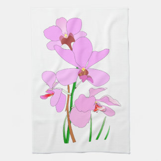 Pink Orchid Tea Towel