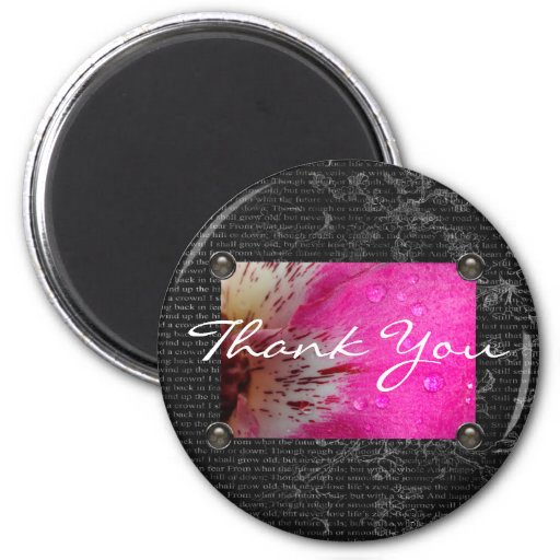 Pink Orchid Thank You Magnet