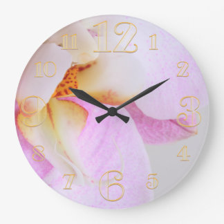 Pink Orchid Wall Clock