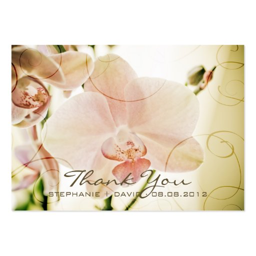 Pink Orchid • Wedding Favour Tag Business Card Templates