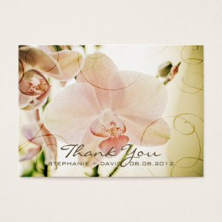 Pink Orchid • Wedding Favour Tag Business Card