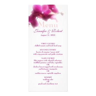 Pink Orchid Wedding Menu Rack Card