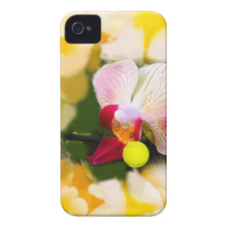 Pink orchid with tennis ball iPhone 4 cases