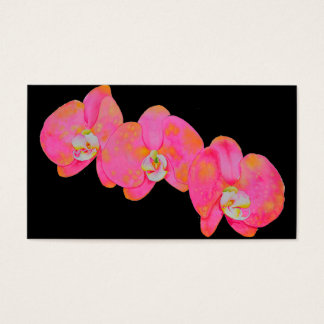 Pink Orchids Business Card