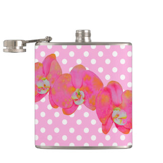 Pink Orchids Flasks