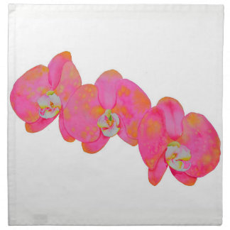 Pink Orchids Napkin