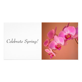Pink Orchids Photo Greeting Card