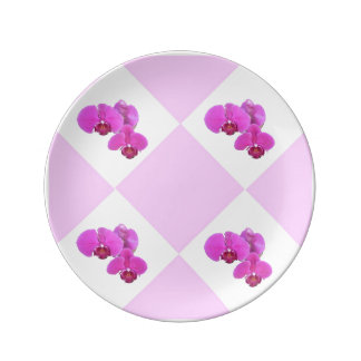 Pink Orchids Plate