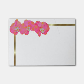 Pink Orchids Post-it Notes