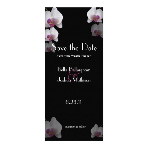 Pink Orchids Save the Date Announcement