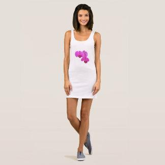 Pink Orchids Sleeveless Dress