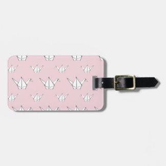 Pink Origami Cranes Luggage Tag