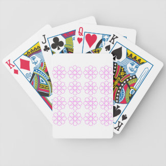 PINK ORNAMENTS Fashion pattern Bicycle Playing Cards