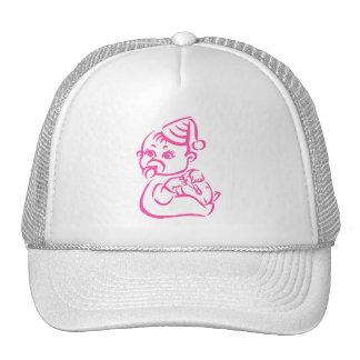 Pink outline cap