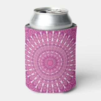 Pink oval mandala can cooler