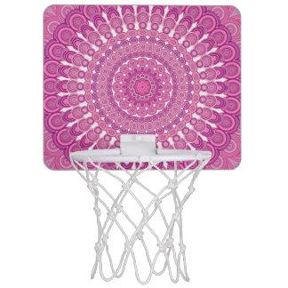 Pink oval mandala mini basketball hoop