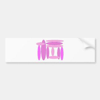 Pink Oval Shapes Bumper Sticker