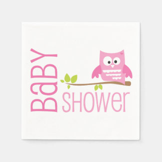 Pink Owl Baby Shower Napkin Disposable Napkin