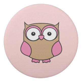 Pink Owl Eraser
