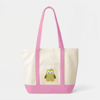 Pink, owl, Impulse Tote Impulse Tote Bag