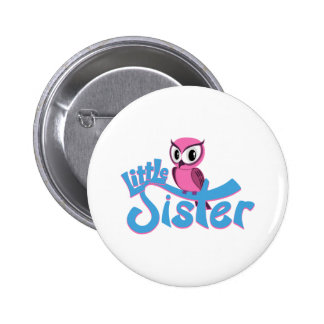 Pink Owl Little Sister 6 Cm Round Badge