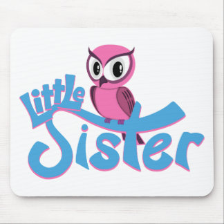 Pink Owl Little Sister Mousepads