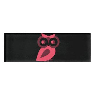 Pink Owl Name Tag