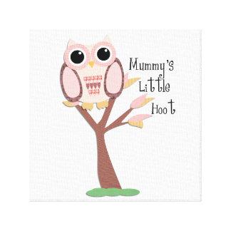 Pink Owl Nursery Canvas Print