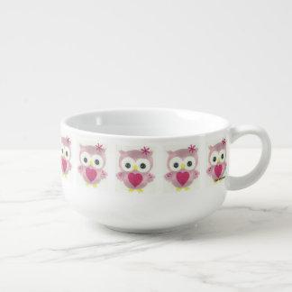 Pink Owl Pattern Bowl