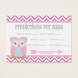 Pink Owl Predictions Card