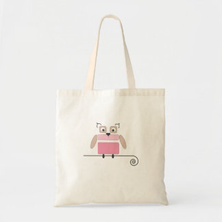 Pink Owl Small Shopping Bag