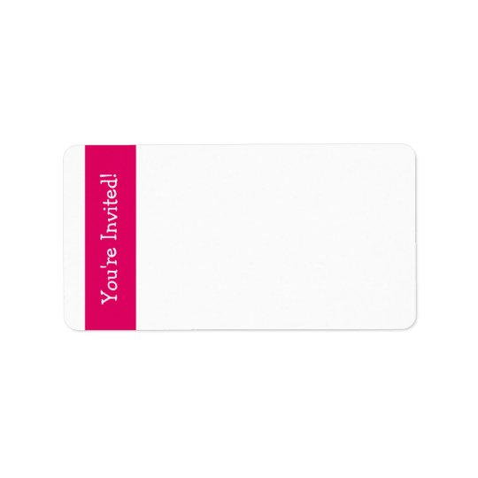 "Pink Owl ""You're Invited"" Address Labels"