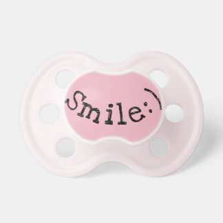 Pink Pacifier with Smile