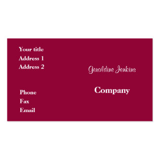 Pink Pack Of Standard Business Cards