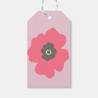 Pink Paint Whimsical Flower Gift Tags