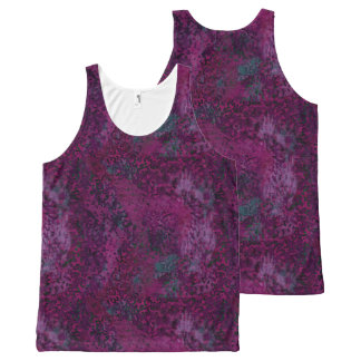 Pink Painterly Abstract All Over Print T-Shirt All-Over Print Tank Top