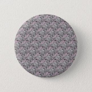 Pink paisley 6 cm round badge