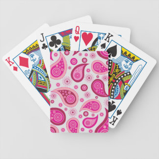 Pink Paisley Bicycle Playing Cards