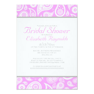 Pink Paisley Bridal Shower Invitations