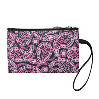 Pink paisley coin purse