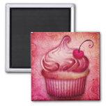 Pink Paisley Cupcake Magnet