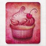 pink paisley cupcake mouse pad