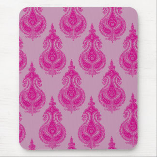 Pink paisley customizable name mouse pad