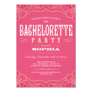 Pink Paisley Invitations for a Bachelorette Party