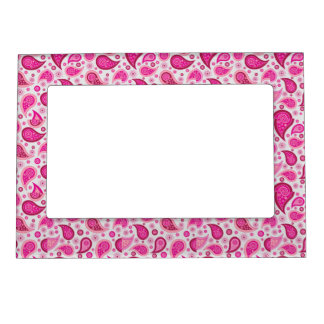 Pink Paisley magnetic frame