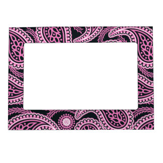 Pink paisley magnetic picture frames
